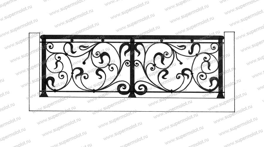 Кованые ограждения для балконов, художественная ковка.