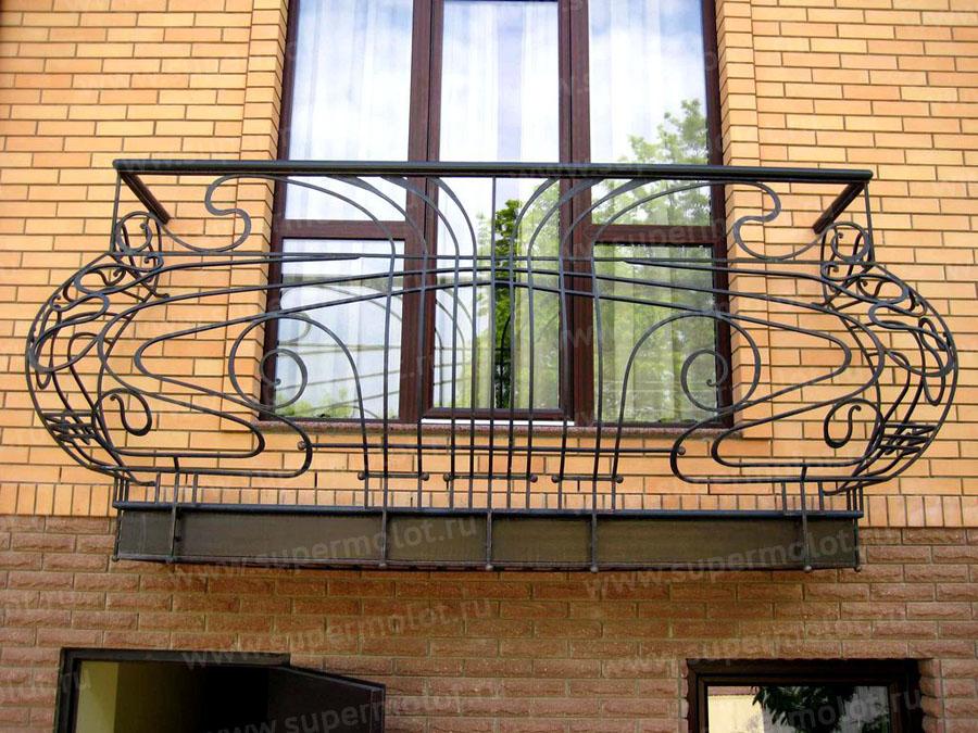 Кованые ограждения балконов: ограда для балкона, перила, худ.
